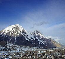 Sunrise on the Inylchek Glacier, Kyrgyzstan by Leo Shum