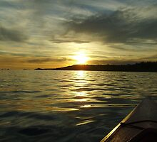 Sunset over Port Elliot from a kayak by frodotableleg