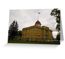 Richland County Montana Court House Greeting Card