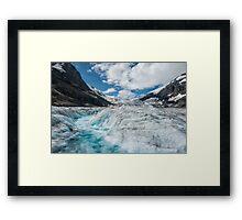 The Rapids of a Melting Glacier Framed Print