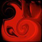 BEAUTIFUL BRIGHT RED VASE by Sherri     Nicholas