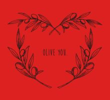 Olive You Baby Tee