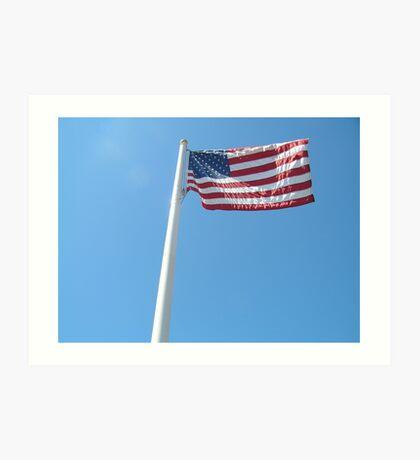Waving American Flag Art Print