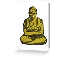 Buddha Statue Drawing Greeting Card