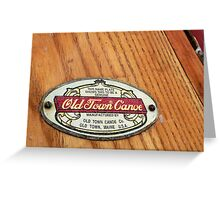 Old Town Canoe 2 Greeting Card