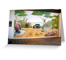 Landrover mural Greeting Card