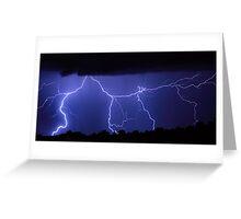Lightning Gates Striking Greeting Card