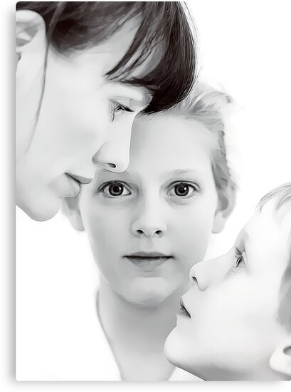 Self portrait with the children by Nicole Goggins