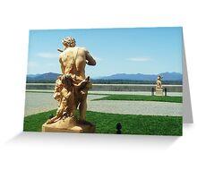 statues at Biltmore estate Greeting Card