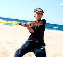 Beach Cricket at Garie Beach by ElsieByrne