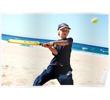 Beach Cricket at Garie Beach Poster