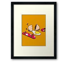 Egg+Skateboard Framed Print