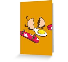 Egg+Skateboard Greeting Card
