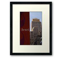 NYC Signage Framed Print