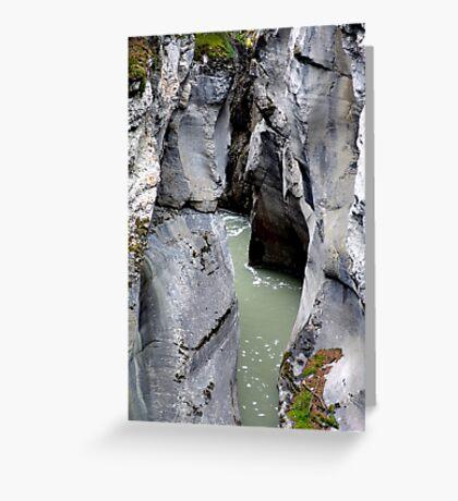 Maligne River Canyon(2) Greeting Card