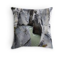 Maligne River Canyon(2) Throw Pillow