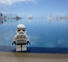 Dave Stormtrooper Tenerife by Pool by apawdesign
