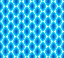 Luminous Abstract Pattern in Shades of Blue by amovitania