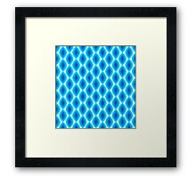 Luminous Abstract Pattern in Shades of Blue Framed Print