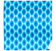 Luminous Abstract Pattern in Shades of Blue Poster