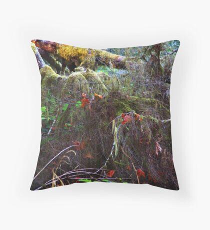 The Floor of a Rain Forest Throw Pillow