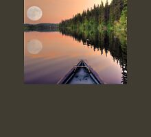 View from a Canoe of a Super Moon Unisex T-Shirt