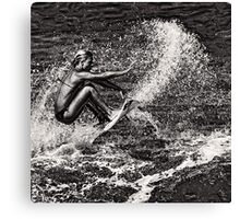 Surf Contrasts Canvas Print