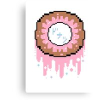 Pixel Donut Canvas Print