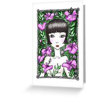 Hibiscus Girl Greeting Card