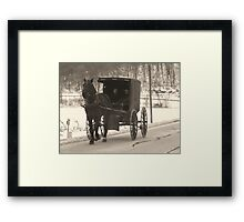 Amish near Breman Ohio in Fairfield County Framed Print