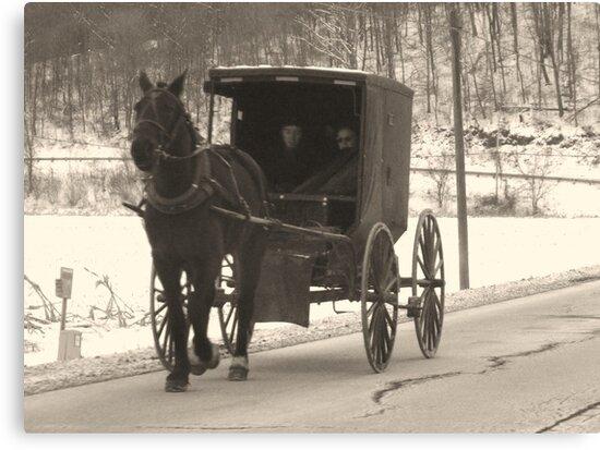 Amish near Breman Ohio in Fairfield County by Chad Wilkins