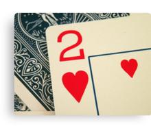 2 Hearts Canvas Print
