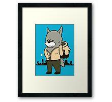 Wolf man Framed Print