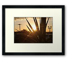 Silhouettes. Framed Print