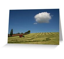 Grass Harvest Greeting Card