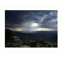 Storm over Megalong... Art Print