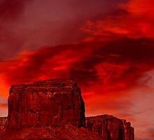 A Monumental Sunset by Tim Scullion