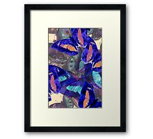 Abstracted Butterflies in Fauvist Colors #10 Framed Print
