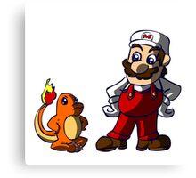 Super Mario Pokemon Trainer! Canvas Print