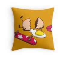 Egg+Skateboard Throw Pillow