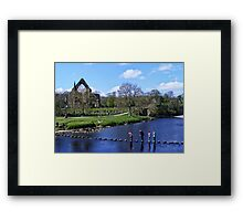 Stepping Stones and Bolton Abbey Framed Print