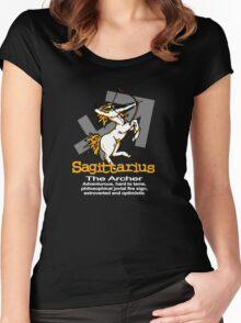 Sagittarius The Archer Women's Fitted Scoop T-Shirt