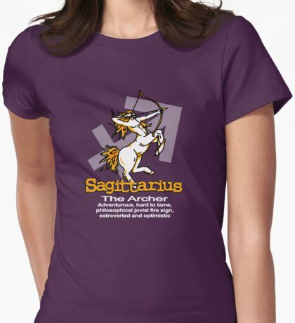 Sagittarius The Archer Womens Fitted T-Shirt