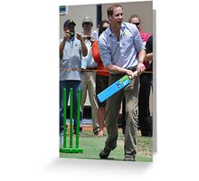 Prince William Playing Cricket At Flowerdale Greeting Card