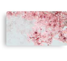Meshed Up Japanese Sakura Blossoms Canvas Print