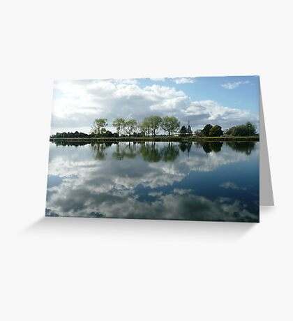 Reflections in the Macleay River, Kempsey, N.S.W. Greeting Card