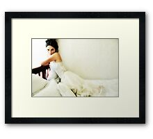 White Sunday Framed Print