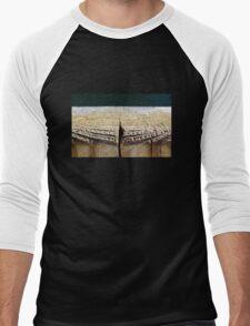 Weathered Wood Piling Men's Baseball ¾ T-Shirt