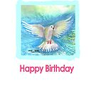 Dove/Birthday card by Shoshonan