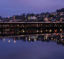 City Bridge Reflections Derry Ireland by mikequigley